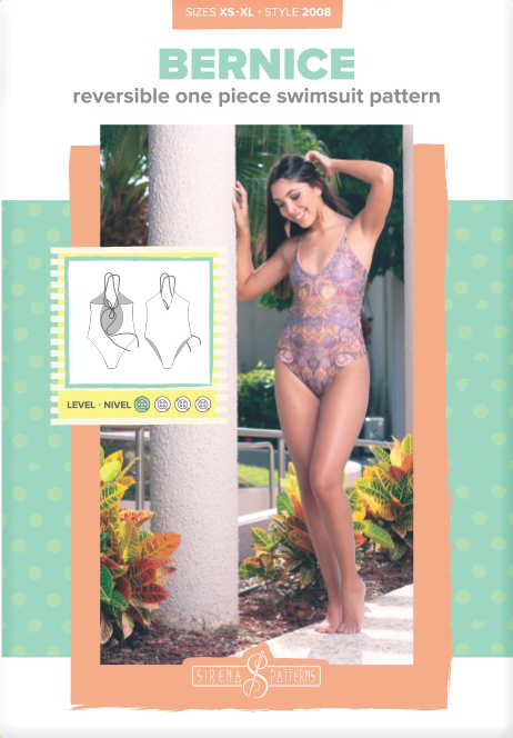 Bernice Reversible One Piece Swimsuit Pattern by Sirena Patterns