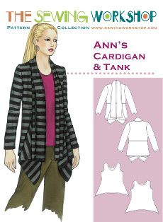 Anns Cardigan & Tank Pattern - Sewing Workshop Pattern