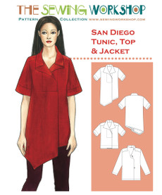 San Diego Tunic Top & Jacket Pattern - Sewing Workshop Pattern
