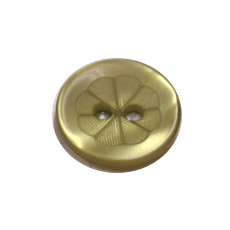 Acrylic Button 2 Hole Engraved 12mm Citron