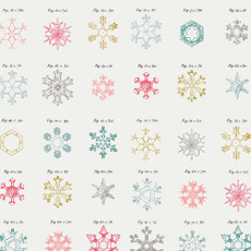 Snow Crystals Jolly - Little Town Designed By Amy Sinibaldi