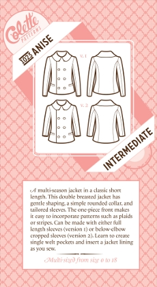 Anise Jacket Pattern - Colette Patterns