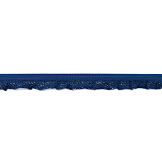 Dark Blue Ruffle Edge Elastic - 14mm X 25m