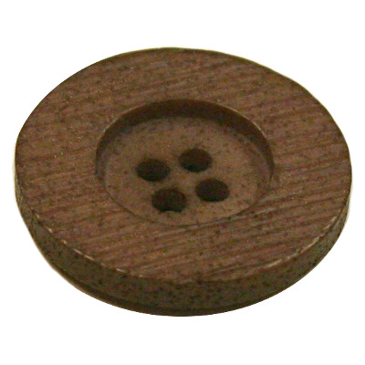 Acrylic Button 4 Hole Textured 23mm Mocca