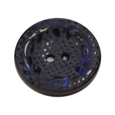 Acrylic Button 2 Hole Engraved 18mm Midnight Blue