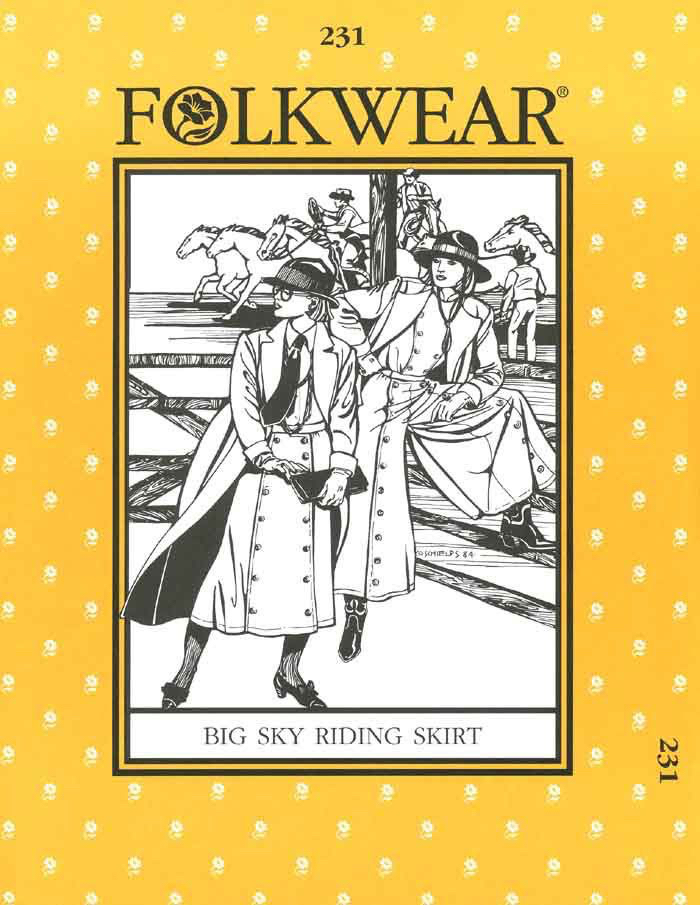 Big Sky Riding Skirt Pattern by Folkwear