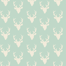 Hello Bear Tiny Buck Forest Mint Knit - Art Gallery Fabric 58in/60in Per Metre