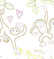 Monkey Love - Sublime Embroidery Transfer