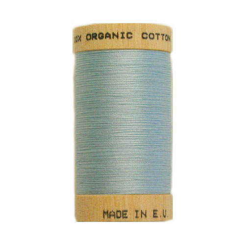 Scanfil Organic Thread 100 Metre Spool - Sky Blue