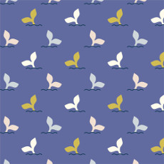 Underwater Fish Tales Nightfall - Cloud 9 Quilters Weight Fabric 44in/45in Per Metre