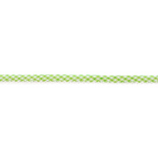 Lime Gingham Crochet-edged Poplin Bias Binding Double Fold - 15mm X 25m