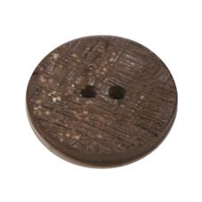 Acrylic Button 2 Hole Textured Speckle 12mm Chocolate