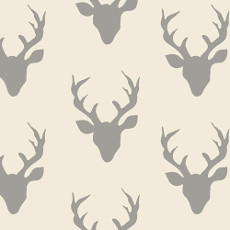 Hello Bear Buck Forest Silver Knit - Art Gallery Fabric 58in/60in Per Metre