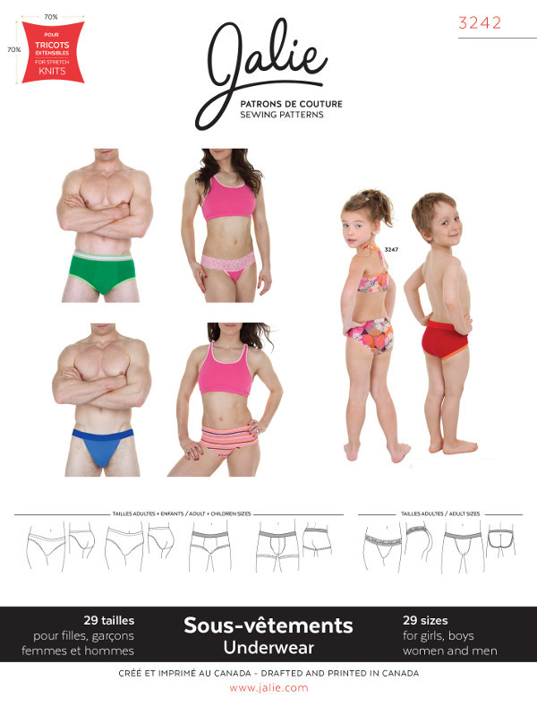 Underwear For Men Women And Children Pattern - Jalie Patterns