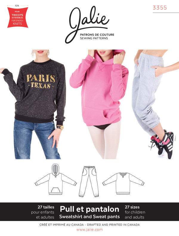 Sweatpants Sweatshirt And Hoodie Pattern - Jalie Patterns