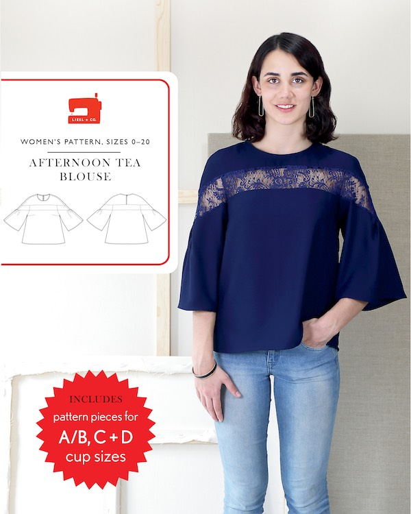 Afternoon Tea Blouse by Liesl + Co Pattern