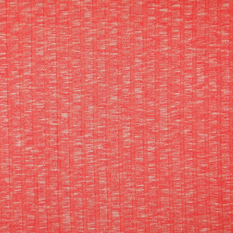 Sete Red Melange Summer Rib Knit Fabric
