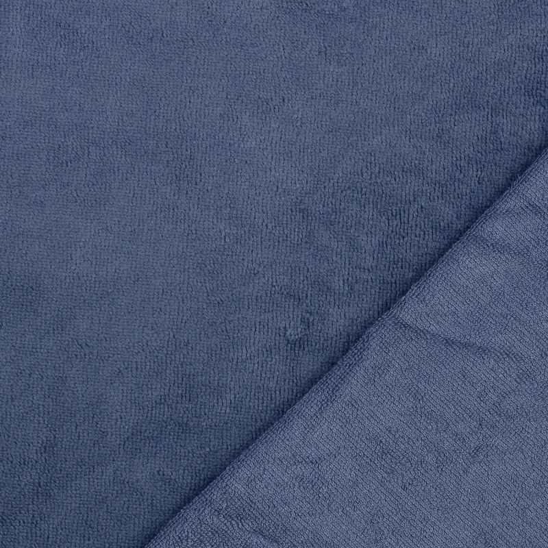 Denim Bamboo Blend Towelling Fabric