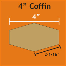 4 Inch Coffins 36 Pieces - Paper Piecing