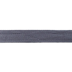 Grey Washed Cotton Twill Tape - 25mm X 50m