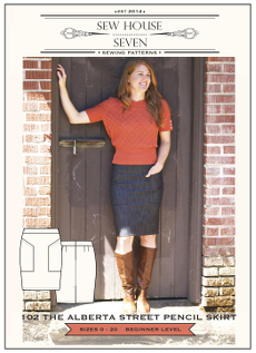 Alberta Street Pencil Skirt Pattern - Sew House Seven Pattern