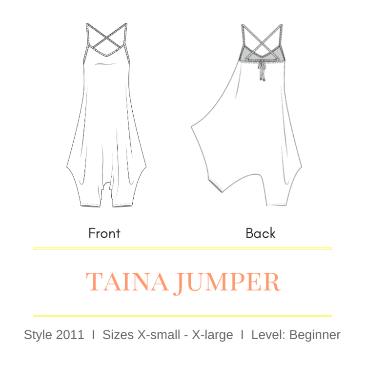 Taina Jumpsuit Pattern by Sirena Patterns