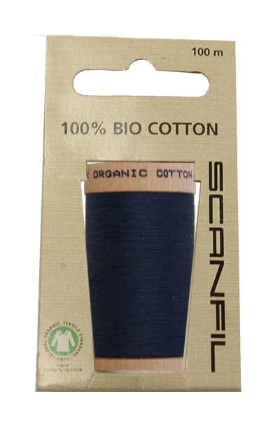 Scanfil Organic Thread 100 Metre Hang-sell - Denim Blue