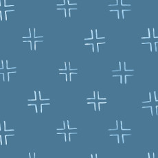 Brush Strokes Trellis Navy - Cloud 9 Quilters Weight Fabric 44in/45in Per Metre