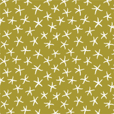 Underwater Starfish Seaweed - Cloud 9 Quilters Weight Fabric 44in/45in Per Metre