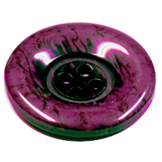 Acrylic Button 4 Hole Marbled 28mm Purple/black