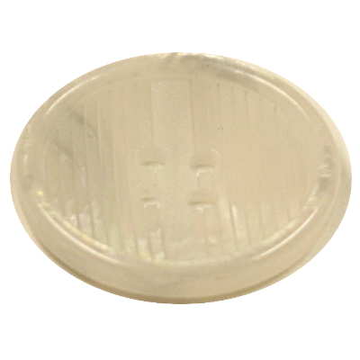 Acrylic Button 4 Hole Ridge Edge Line Engraved Shell 18mm