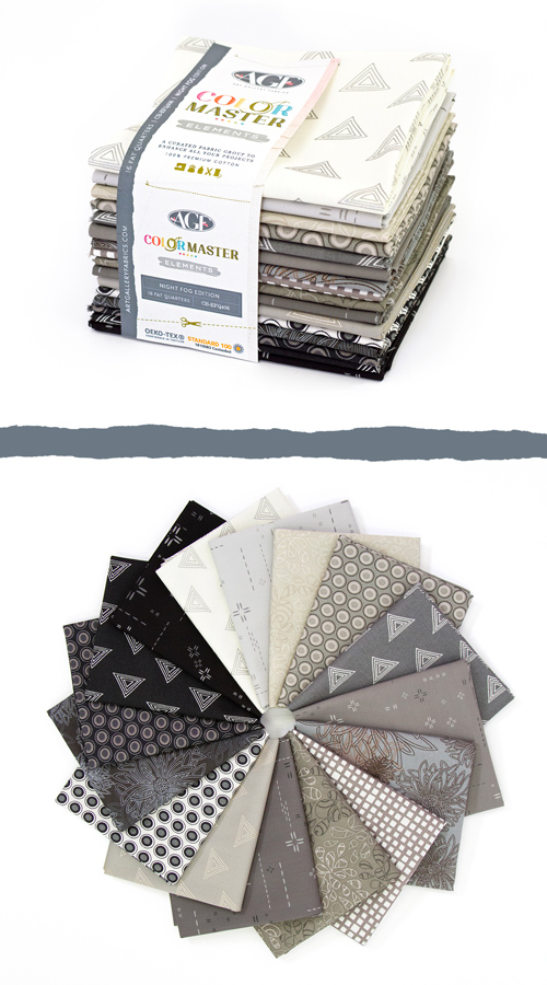 Color Master Elements Night Fog Edition 16 Pieces Fat Quarter Bundle