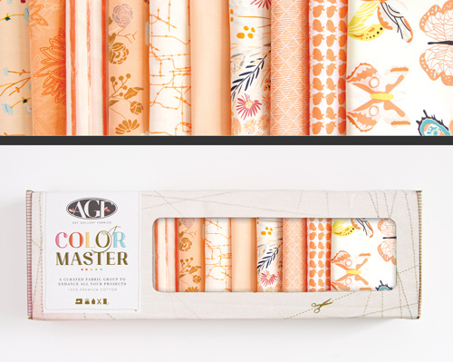 AGF Colormaster Fat Quarter Collectors Set - Quite Peachy Edition