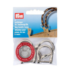 Prym Bag Handle Loops Silver Col 18mm 4pcs