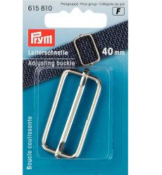 Prym Adjusting Buckle 40mm Silver Coloured - 1 Piece