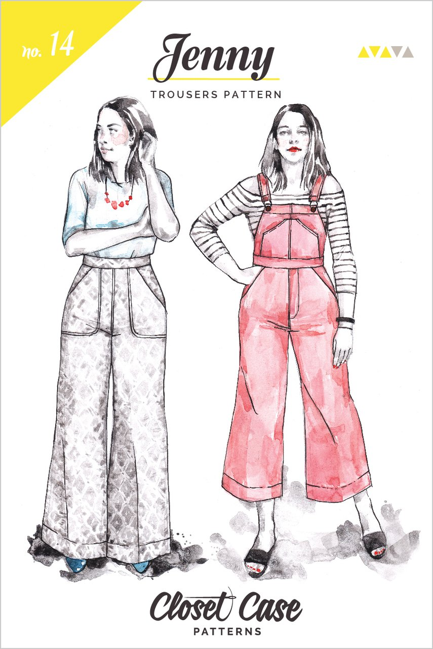 Jenny Trousers and Overall By Closet Core Patterns
