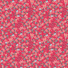 Charleston Garden Of Dreams Rouge - Art Gallery Fabrics Per Metre