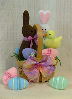 Easter Sweets Basket - Countryside Crafts Felt Pattern