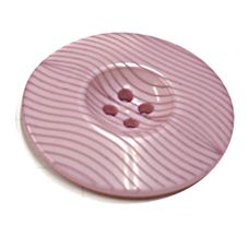 Acrylic Button 4 Hole Ridged 34mm Rose Pink