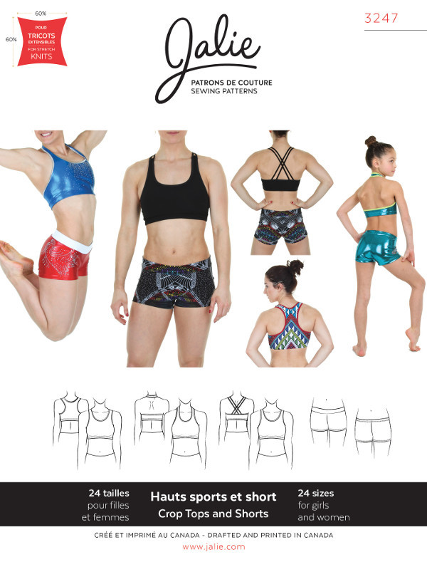 Crop Tops And Shorts Pattern - Jalie Patterns