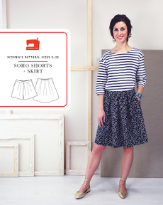 Soho Shorts + Skirt - Liesl + Co Pattern