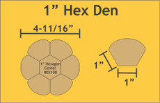 1in Hex Dresden Small Pack 6 Complete Plates - Paper Pieces