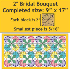 Miniature Bridal Bouquet Wall Hanging - 9 Inch X 17 Inch - Pattern Plus Paper Pieces