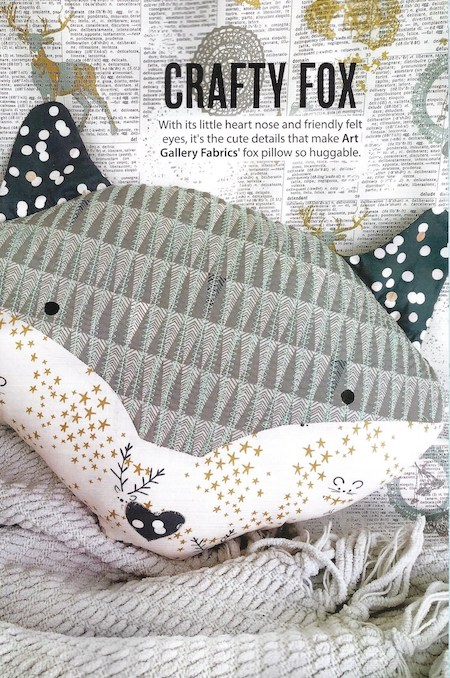 Simply Sewing Issue 55 - Craft Fox Huggable Pillow
