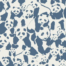 Pandalicious Pandalings Pod Night Voile - Art Gallery Fabric 52in/53in Per Metre