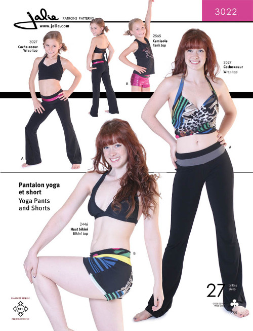 Yoga Pants And Shorts Pattern - Jalie Patterns