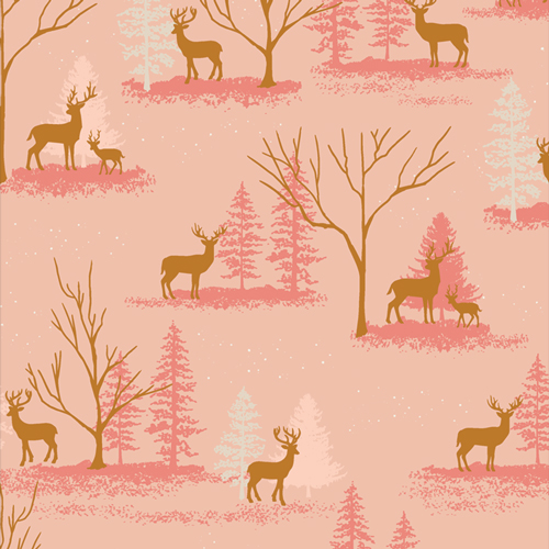 Deer in Winterland from Cozy and Magical by Maureen Cracknell in Cotton for AGF