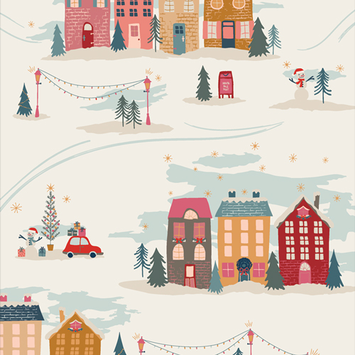 Christmastide Town from Cozy and Magical by Maureen Cracknell in Cotton for AGF
