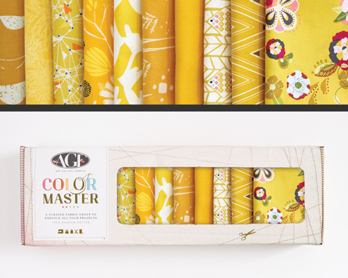 AGF Colormaster Fat Quarter Collectors Set - Gold Leaf Edition