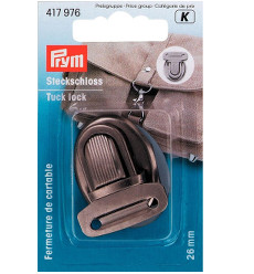 Prym Tuck Lock 26 X 35mm Antique Silver